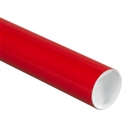 "Picture of 3"" x 36"" Red Mailing Tubes with Caps"
