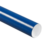 "Picture of 3"" x 36"" Blue Mailing Tubes with Caps"