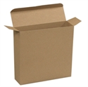 "Picture of 7 1/4"" x 2"" x 7 1/4"" Kraft Reverse Tuck Folding Cartons"