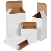 """Picture of 3 5/8"""" x 1"""" x 3 5/8"""" White Reverse Tuck Folding Cartons"""