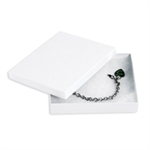 """Picture of 6"""" x 5"""" x 1"""" White Jewelry Boxes"""