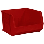 """Picture of 18"""" x 16 1/2"""" x 11"""" Red Plastic Stack & Hang Bin Boxes"""