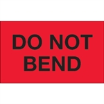 """Picture of 3"""" x 5"""" - """"Do Not Bend"""" (Fluorescent Red) Labels"""