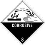 """Picture of 4"""" x 4"""" - """"Corrosive - 8"""" Labels"""