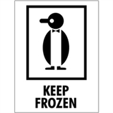 "Picture of 3"" x 4"" - ""Keep Frozen"" Labels"