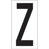 "Picture of 3 1/2"" ""Z"" Vinyl Warehouse Letter Labels"