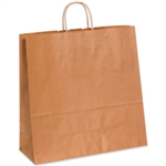 """Picture of 16"""" x 6"""" x 15 3/4"""" Kraft Paper Shopping Bags"""