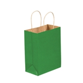 "Picture of 8"" x 4 1/2"" x 10 1/4"" Kelly Green Tinted Shopping Bags"