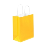 """Picture of 8"""" x 4 1/2"""" x 10 1/4"""" Buttercup Tinted Shopping Bags"""