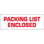 """Picture of 2"""" x 110 yds. - """"Packing List Enclosed"""" (6 Pack) Pre-Printed Carton Sealing Tape"""