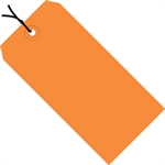 """Picture of 2 3/4"""" x 1 3/8"""" Orange 13 Pt. Shipping Tags - Pre-Strung"""
