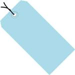 """Picture of 5 1/4"""" x 2 5/8"""" Light Blue 13 Pt. Shipping Tags - Pre-Strung"""