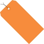 """Picture of 4 3/4"""" x 2 3/8"""" Orange 13 Pt. Shipping Tags - Pre-Wired"""