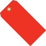 """Picture of 3 1/4"""" x 1 5/8"""" Fluorescent Red 13 Pt. Shipping Tags"""