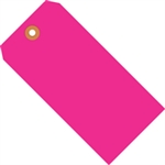 """Picture of 4 3/4"""" x 2 3/8"""" Fluorescent Pink 13 Pt. Shipping Tags"""
