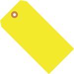 """Picture of 5 1/4"""" x 2 5/8"""" Fluorescent Yellow 13 Pt. Shipping Tags"""