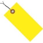 """Picture of 4 1/4"""" x 2 1/8"""" Yellow Tyvek® Pre-Wired Shipping Tag"""