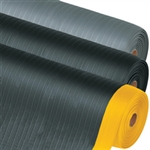 Picture of 2 1/4' x 3' Black/Yellow Economy Anti-Fatigue Mat