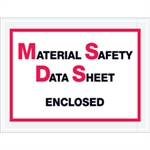 """Picture of 6 1/2"""" x 5"""" """"Material Safety Data Sheet Enclosed"""" Envelopes"""